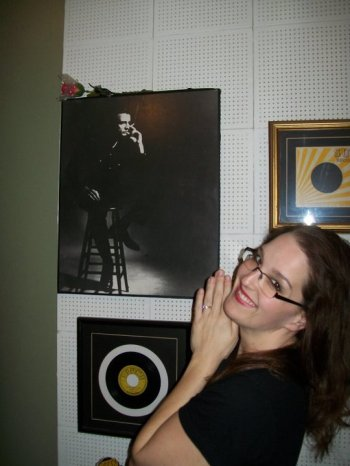 A photo taken of me during a tour of Sun Studios in Memphis. You should go. It's a piece of history!