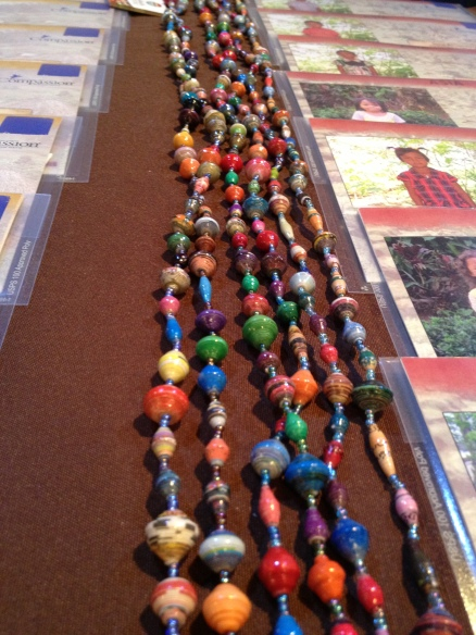 These beads were a gift we gave to every person who chose and child and made a first payment. Gorgeous, yes?