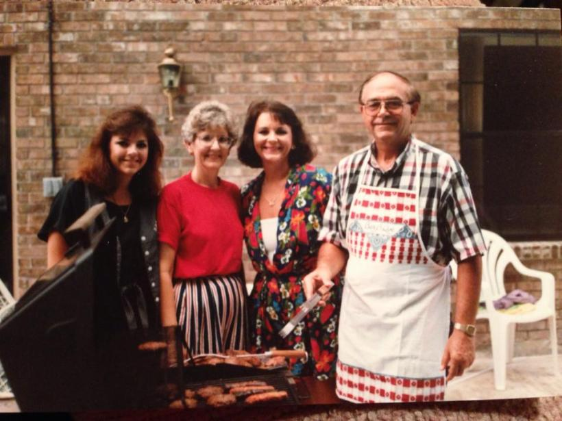 My grandfather, grandmother, mother, and aunt -- Father's Day 1991