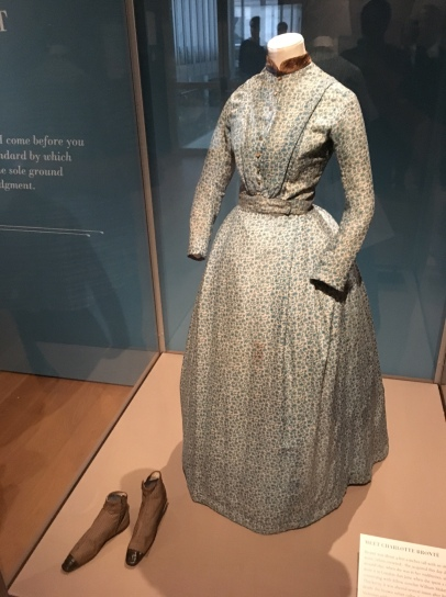 "A dress once worn by Brontë. Only 4'9"", she was small but mighty!"