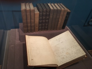 "A copy of all three Brontë sisters' books, plus the original manuscript for Charlotte's last published work, ""The Professor."""