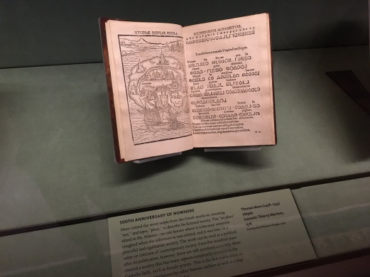 "Thomas More's ""Utopia,"" one of the many treasures on display"